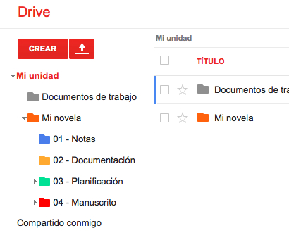 Google Drive para escritores