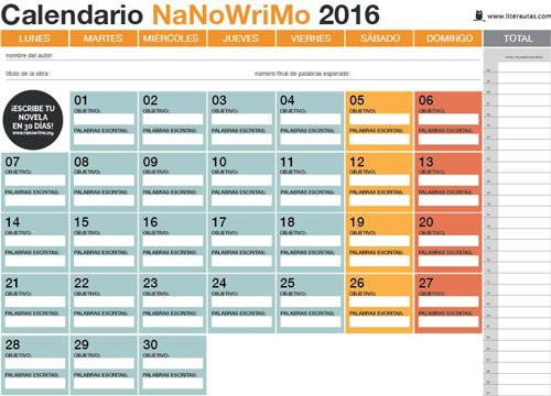 calendario-Literautas-NaNoWriMo-2016