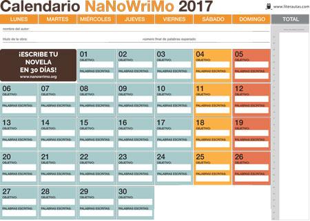 calendario-NaNoWriMo-2017