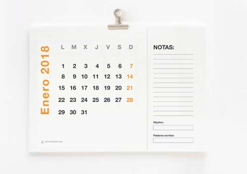 calendario-pared-escritores-2018