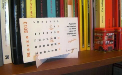 Calendario para escritores