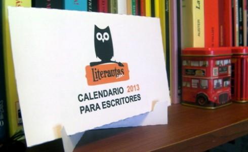 Calendario de pie para escritores 2013