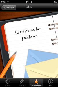 iDeas para Escribir (título)