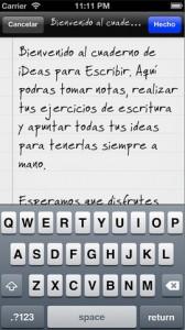 iDeas para Escribir app