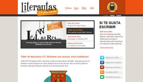 Página de inicio de Literautas.com